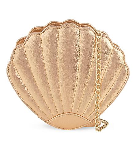 SKINNYDIP Sea shell cross-body bag (Rose gold