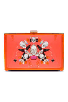 SKINNY DIP Sunset perspex clutch