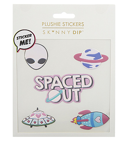 SKINNYDIP Spaced Out plushie stickers (Multi