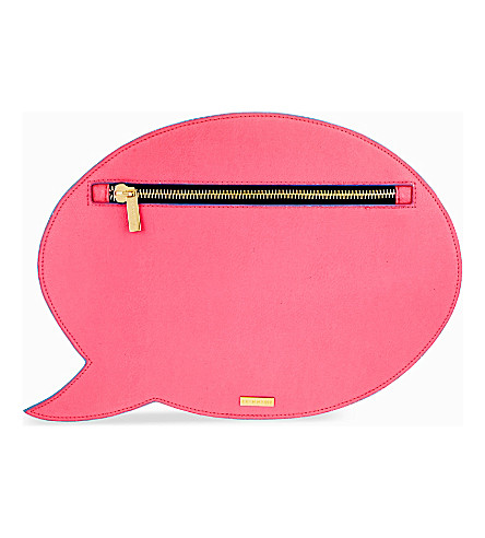 SKINNYDIP Speech bubble clutch (Pink