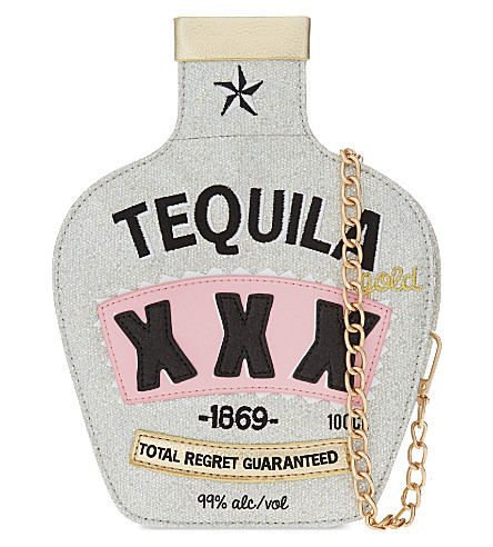 SKINNYDIP Tequila novelty cross-body bag (Silver