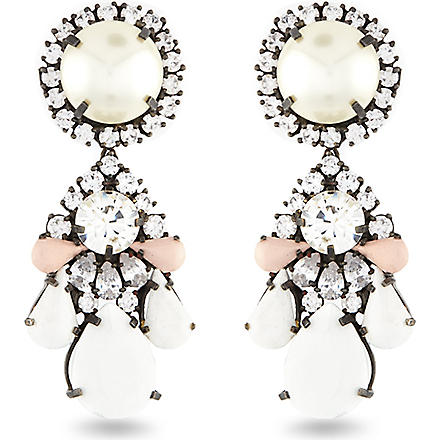 SHOUROUK Marguerite earrings (Cream