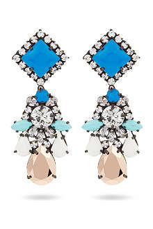 SHOUROUK Square crystal earrings