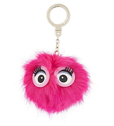KATE SPADE NEW YORK Monster pouf charm (Pink+confetti