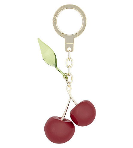 KATE SPADE NEW YORK Cherries charm key ring (Clear+multi