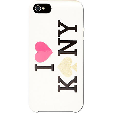 KATE SPADE I love KNY iPhone 5 case (Cream/black/snapdragon