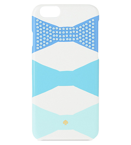 KATE SPADE NEW YORK Jeweled bow iPhone 6/6S case (Blue multi