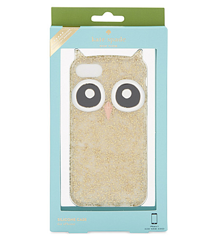 KATE SPADE NEW YORK Silicone Owl iPhone 7 case (Gold