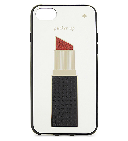 KATE SPADE NEW YORK Jewelled lipstick iPhone 7 case (Cream+multi