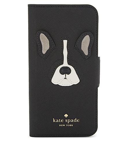 KATE SPADE NEW YORK Antoine leather wrap folio phone case (Classic+camel+multi