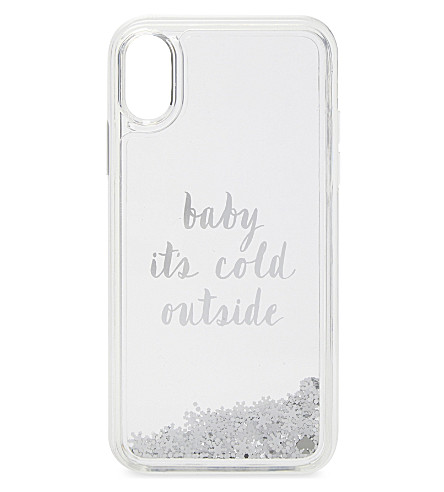 KATE SPADE NEW YORK Baby it's cold outside iPhone X case (Clear+multi