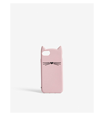 KATE SPADE NEW YORK Silicone cat iPhone 7/8 case (Pink multi