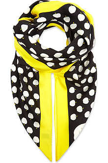 KATE SPADE Apple print party scarf