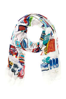 KATE SPADE Library Illustration scarf