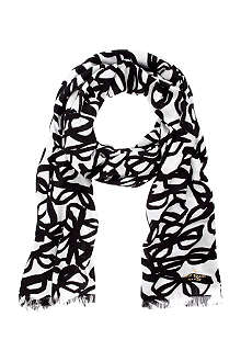 KATE SPADE Literary Glasses modal and cashmere-blend scarf