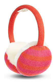 KATE SPADE Striped ear muffs