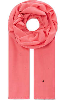 KATE SPADE All That Glitters pyramid stud scarf