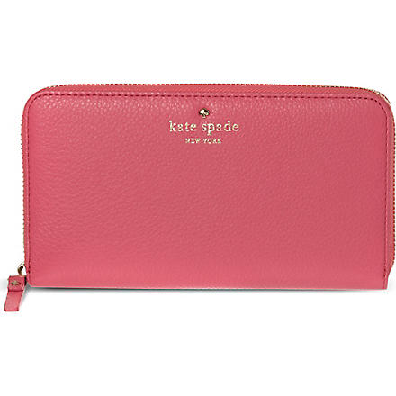 KATE SPADE Lacey leather wallet (Strawb