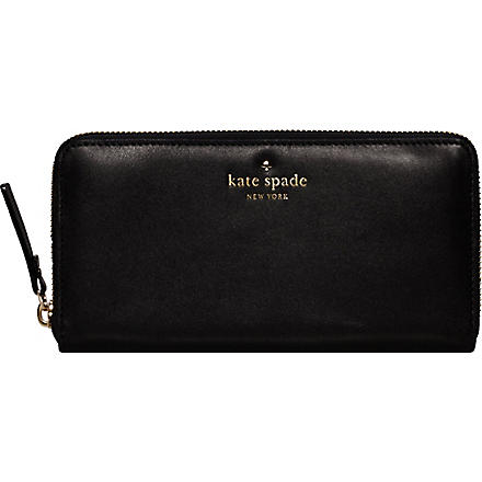 KATE SPADE Brightspot Avenue leather wallet (Black