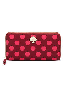 KATE SPADE Apple print wallet