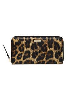 KATE SPADE Cedar Street Lacey animal-printed wallet