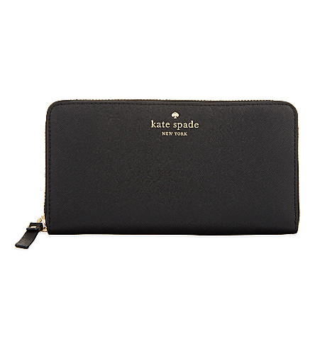 KATE SPADE NEW YORK Lacey leather continental wallet (Black