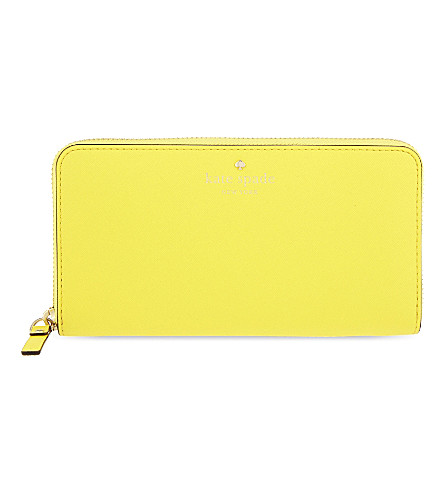 KATE SPADE NEW YORK Lacey leather continental wallet (Solar yellow