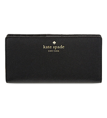 KATE SPADE NEW YORK Cedar Street Stacy leather continental wallet (Black