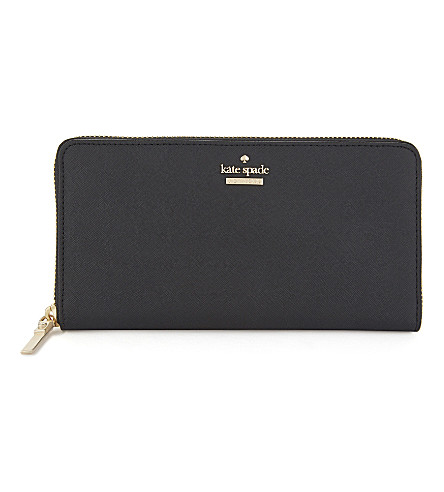 KATE SPADE NEW YORK Cameron Street Lacey leather wallet (Black