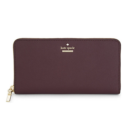 KATE SPADE NEW YORK Cameron Street Lacey leather purse (Deep+plum