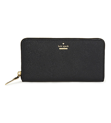 KATE SPADE NEW YORK Cameron Street Lacey leather continental wallet (Black