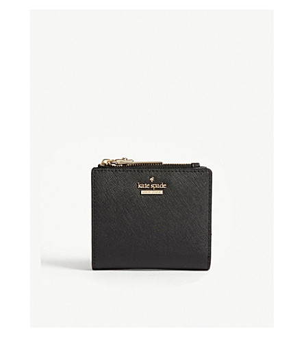 KATE SPADE NEW YORK Cameron Street Adalyn Saffiano leather wallet (Black