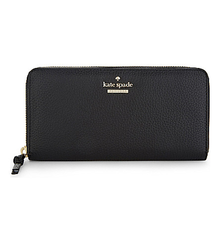 KATE SPADE NEW YORK Leather Jackson Street Lacey wallet (Black