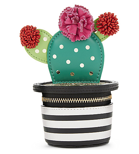 KATE SPADE NEW YORK Scenic Route 3D cactus coin purse (Black multi