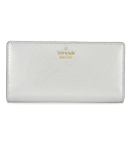 KATE SPADE NEW YORK Stacy leather wallet (Platino