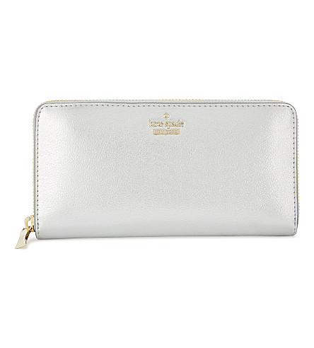 KATE SPADE NEW YORK Lacey leather wallet (Platino