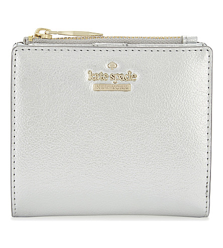 KATE SPADE NEW YORK Adalyn leather wallet (Platino
