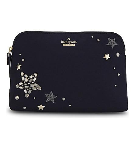KATE SPADE NEW YORK Watson Lane Briley star cosmetics bag (Rich+navy