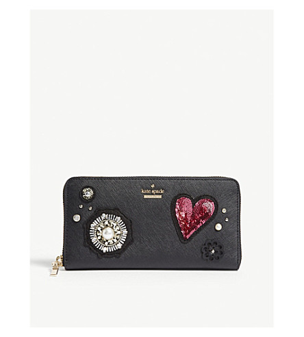 KATE SPADE NEW YORK Finer Things Lacey leather wallet (Black