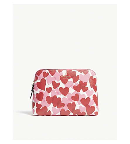 KATE SPADE NEW YORK Yours Truly wash bag (Heart+party