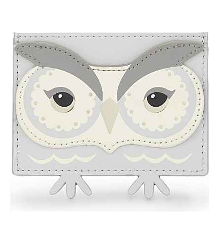 KATE SPADE NEW YORK Star Owl leather cardholder (Multi
