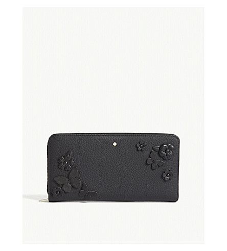 KATE SPADE NEW YORK Madison Layden Street floral leather wallet (Black