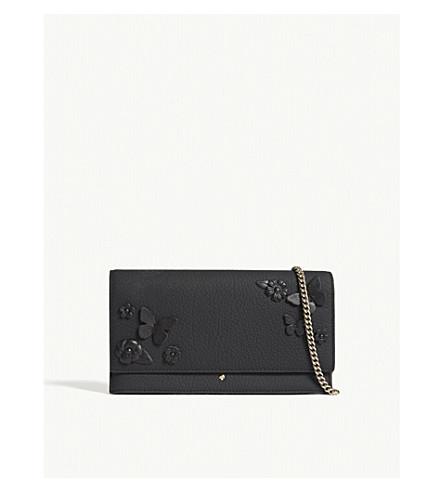 KATE SPADE NEW YORK Layden Street Brennan leather clutch (Black