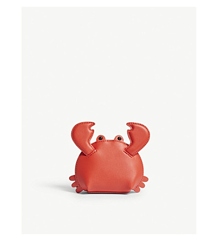 KATE SPADE NEW YORK Shore Thing crab leather coin purse (Picnic+red
