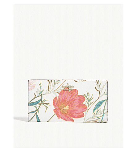 KATE SPADE NEW YORK Cameron Street Blossom leather wallet (Cream