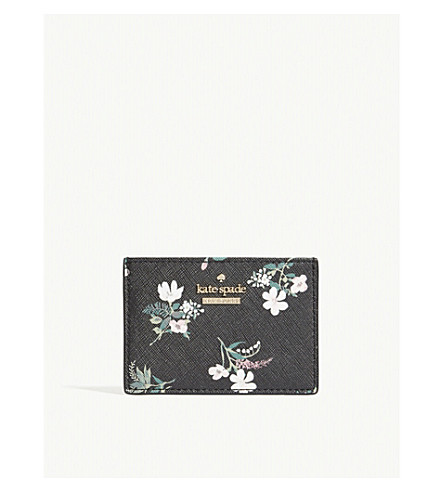 KATE SPADE NEW YORK Cameron Street floral card holder (Black+multi