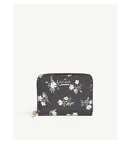 KATE SPADE NEW YORK Cameron Street floral leather purse (Black+multi