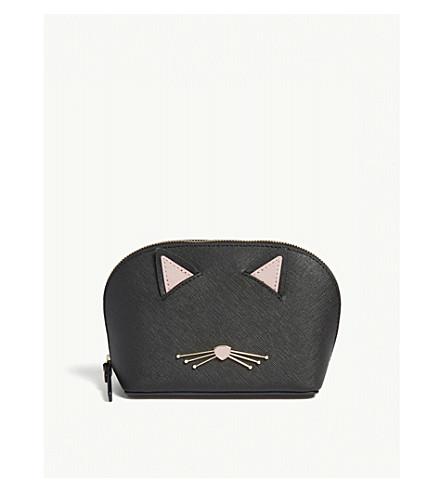 KATE SPADE NEW YORK Cat's Meow pouch bag (Black+multi