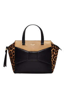 KATE SPADE 2 Park Avenue Beau leather and ponyskin tote