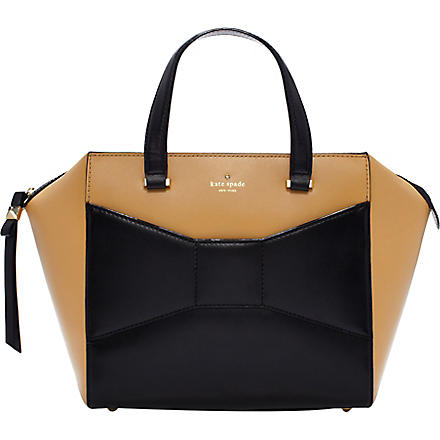 KATE SPADE 2 Park Avenue Beau leather tote (Macchiato/black